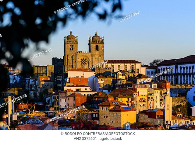 Porto cathedral and traditional houses, Porto