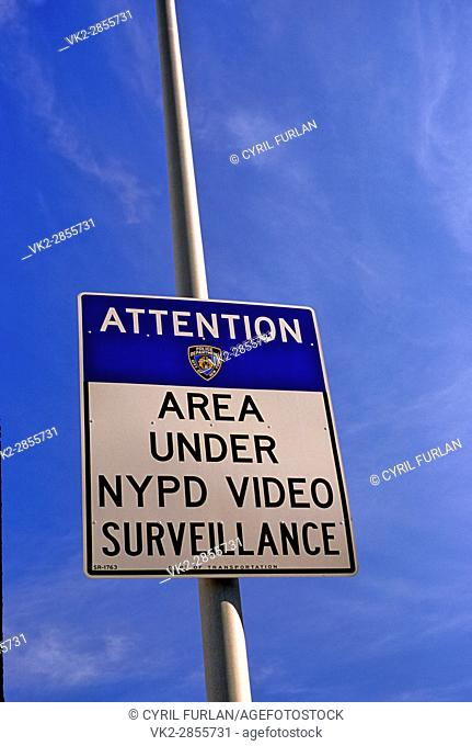 NYPD Surveilance Sign