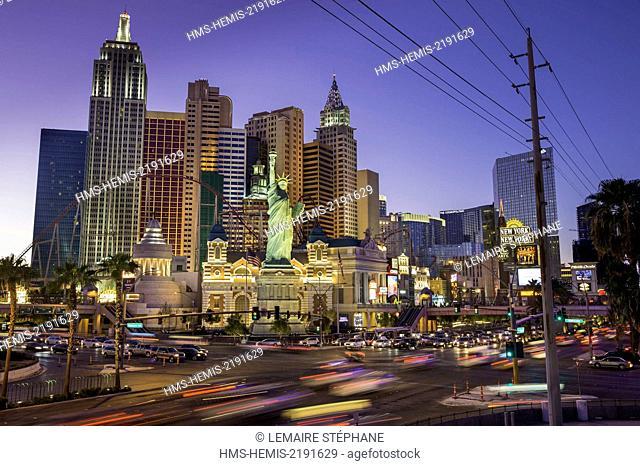 United States, Nevada, Las Vegas, the Strip, New York New York Hotel and Casino
