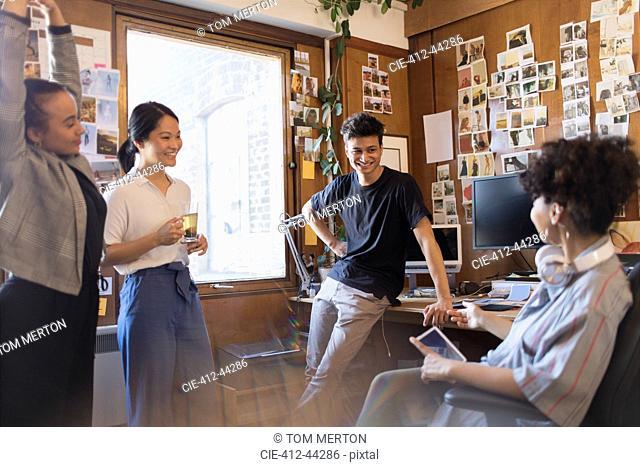 Creative designers meeting in office
