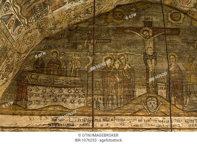 Wood Church of the Holy Paraskeva, Unesco World Heritage Site, Desesti, Maramuresch, Romania