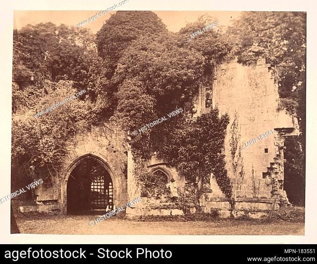 Old Gateway, Raglan Castle, Monmouthshire. Artist: J. Holden (British); Date: 1855; Medium: Albumen silver print; Classification: Photographs; Credit Line: The...