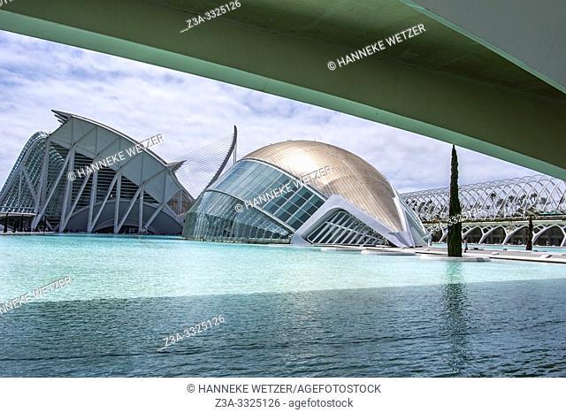 Planetarium, Ciudad de las artes y las ciencias, City of Arts and Science, Valencia, Spain, Europe