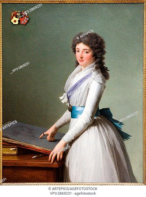 François-André Vincent. Portrait de la baronne de Chalvet-Souville, né Marie de Broutin. 1793