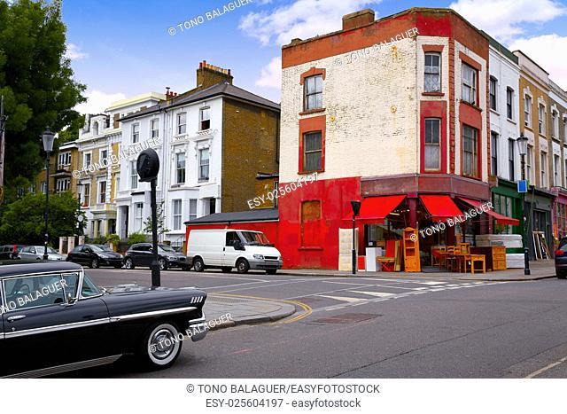 London Portobello road Market vintage in UK England