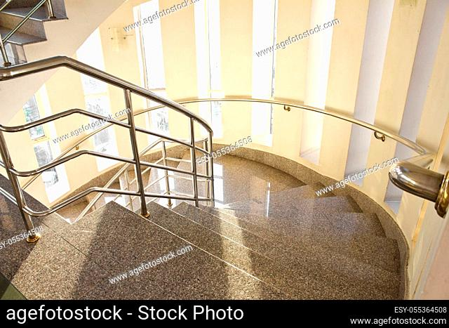 modern staircase in building hotel