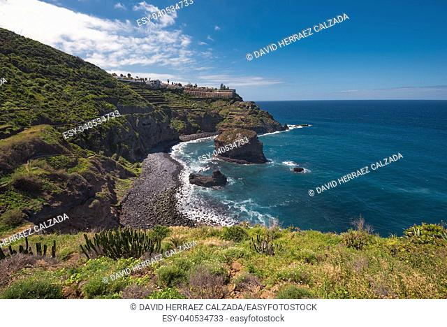 Landscape of north Tenerife island coastline, Canary islands, Spain