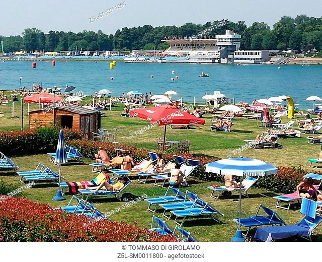 Italy, Lombardy, Milan, Idroscalo lake
