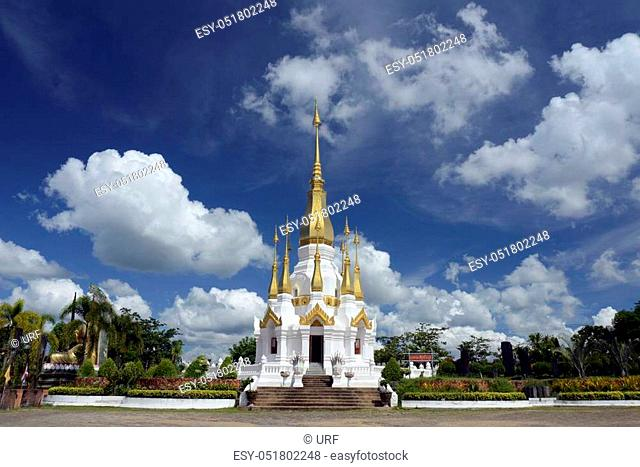 the temple Wat Tham Khu Ha Sawan in Khong Jiam on the Mekong River near Khong Chiam in the provinz of Ubon Rachathani in the Region of Isan in Northeast...
