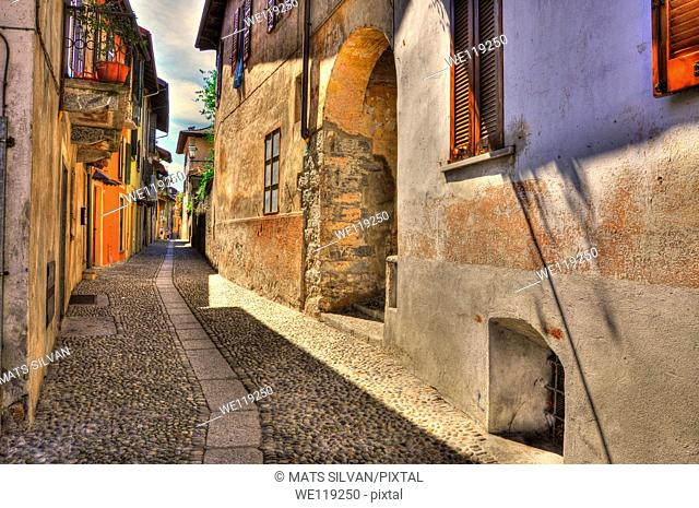 Old colorful stone alley