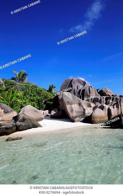 Grand Anse, Beach on La Digue, Seychelles, Indian Ocean, Africa