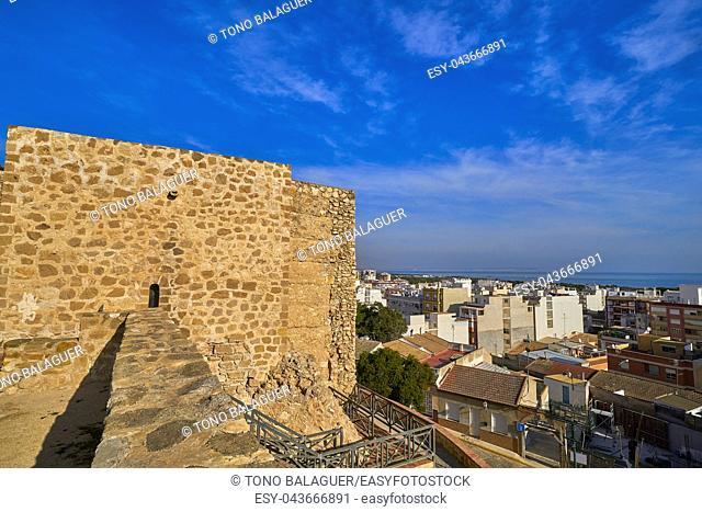 Guardamar del Segura Castle in Alicante of Spain