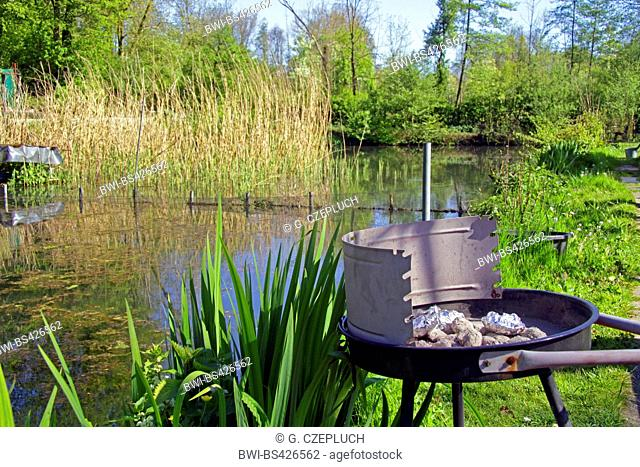 trout farm and charcoal grill, Germany