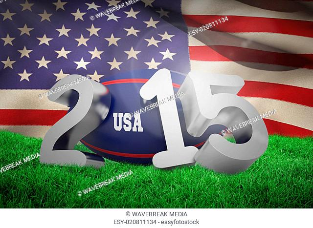 Composite image of usa rugby 2015 message