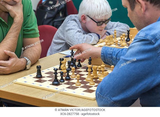Chess for blind or visually impaired