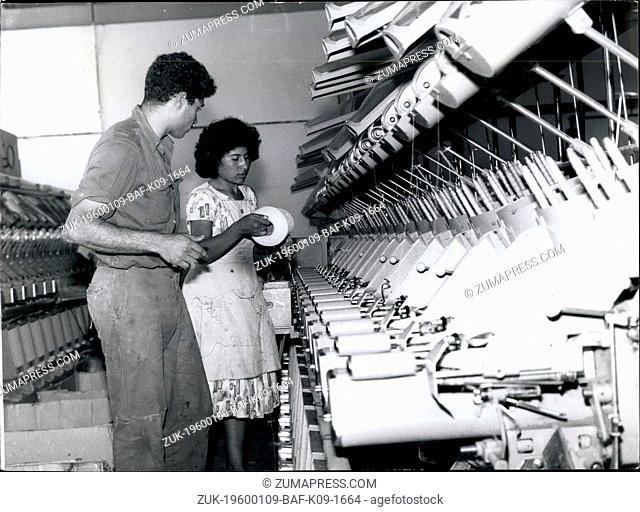 1968 - North African immigrants working in a cotton mill near Tel Aviv. (Credit Image: © Keystone Pictures USA/ZUMAPRESS.com)