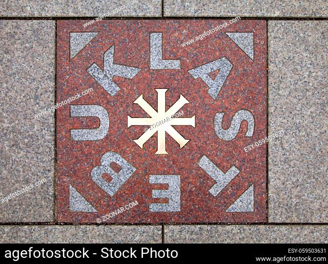 Tile Stebuklas in Vilnius - you can make a wish standing on it and turning around three times