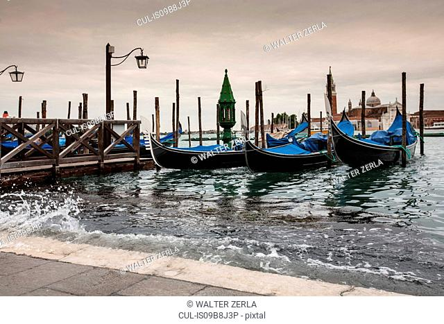 High water rising up to St Mark's Square, Venice, Italy