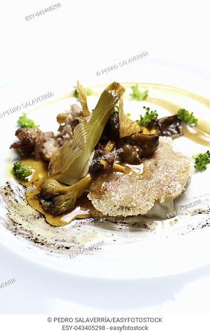 Lamb with grilled with vegetables
