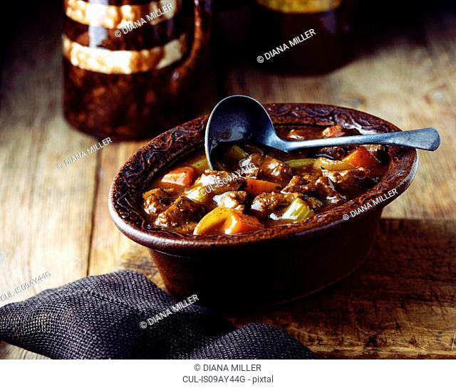 Home-made british beef casserole
