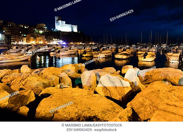 Lerici, Italy. nocturne Lerici is very famous for the old castle and the port