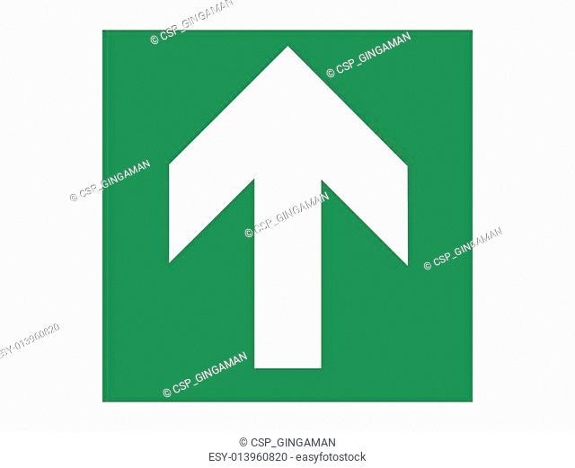 Green Emergency Arrow Ahead