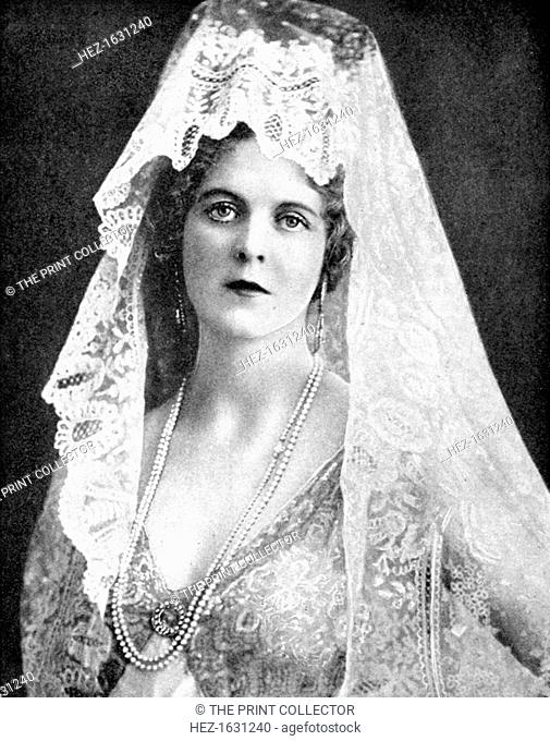 Woman wearing a lace mantilla, Andalusia, Spain, 1936. From Peoples of the World in Pictures, edited by Harold Wheeler, published by Odhams Press Ltd (London