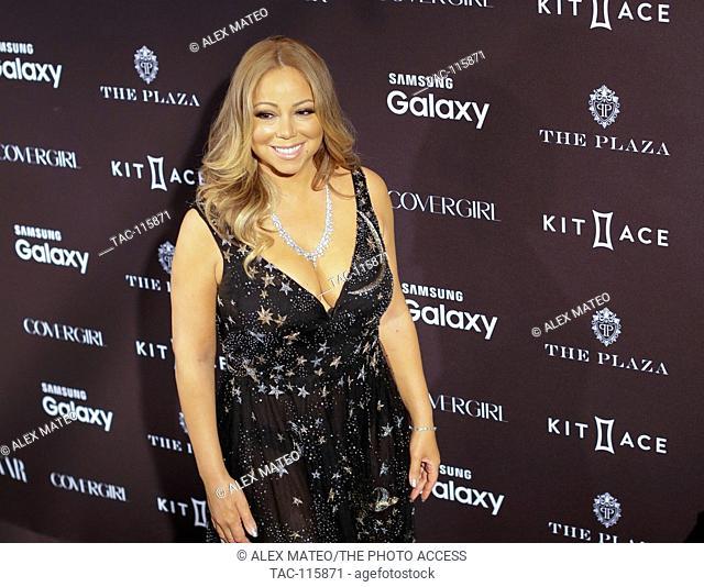 Mariah Carey arrives at the Harpers Bazaar Icons Gala