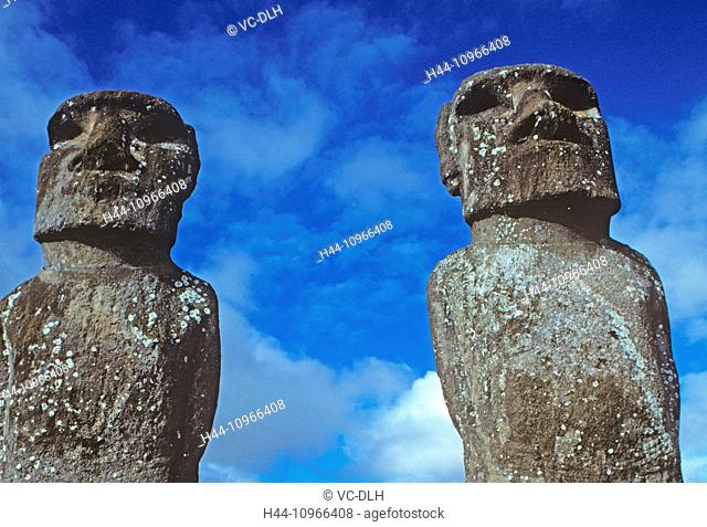 Anakena Moais, Easter Island, Chile