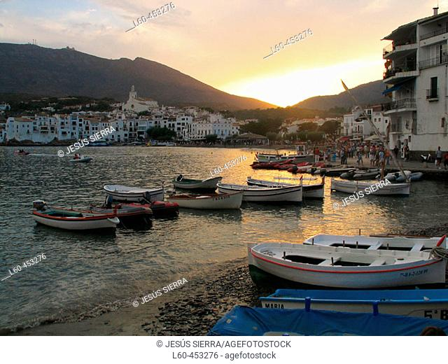 Cadaqués in the evening. Costa Brava, Girona province. Catalonia, Spain