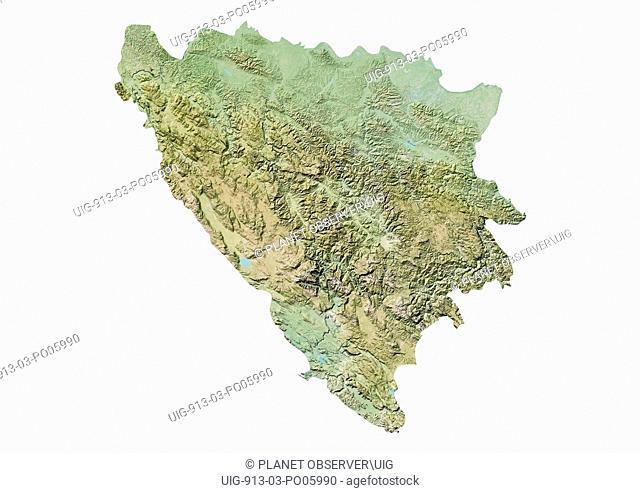 Bosnia and Herzegovina, Relief Map