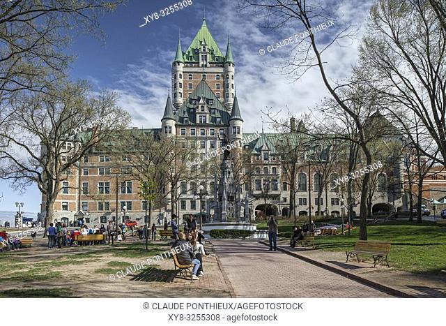 Le Château-Frontenac Fairmont hotel. Old Quebec City. Canada