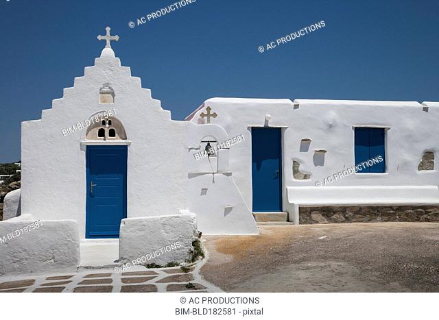 Traditional church and blue sky