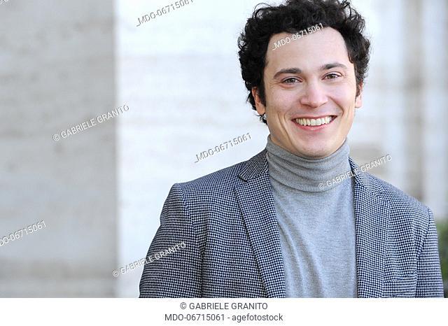 Italian actor Gabriele Granito during Un'Avventura photocall. Rome, February 13th, 2019