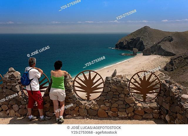 Cabo de Gata - Nijar Natural Park, Beach of the Dead, Almeria province, Region of Andalusia, Spain, Europe