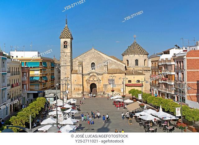 Parish church of San Mateo - 16th century and Plaza Nueva, Lucena, Cordoba province, Region of Andalusia, Spain, Europe