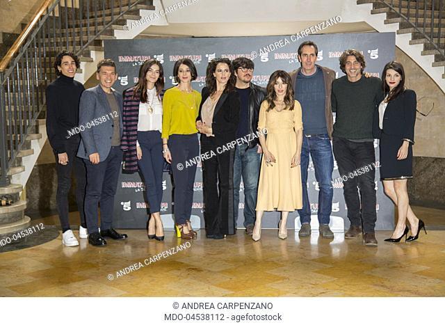 The cast actors (Ricky Memphis, Daniele Liotti, Sabrina Impacciatore, Nicole Grimaudo, Irene Ferri, Ninni Bruschetta, Ilaria Spada, Daniele Liotti