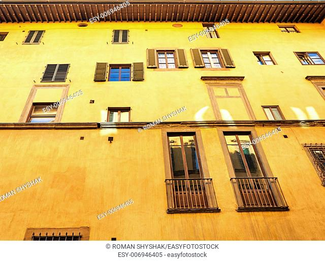Florentine building facade with different windows