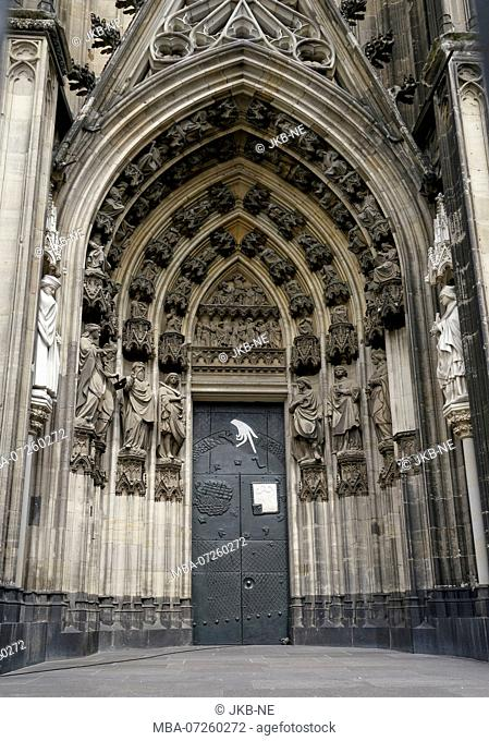 Germany, North Rhine-Westphalia, Cologne, cathedral, side portal, south