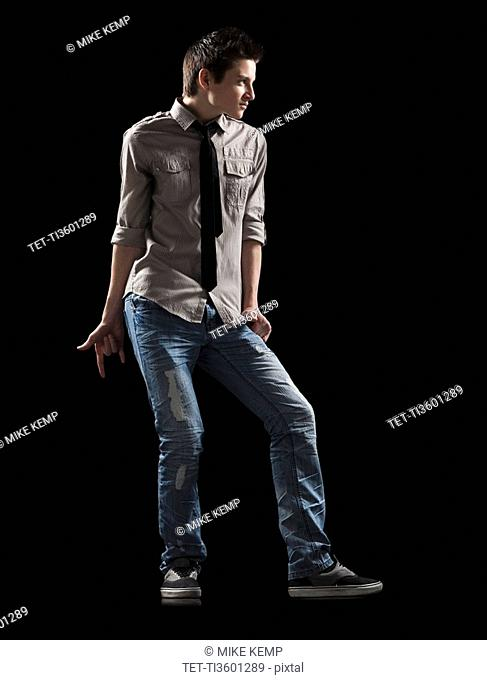 Male dancer posed for a lyrical dance