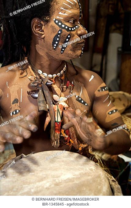 African man from the Congo in tribal costume