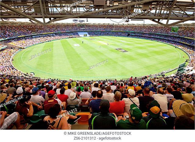 """""""The """"""""""""""""Gabba"""""""""""""""" cricket ground, Wollongabba, Brisbane, QLD, Australia."""""""