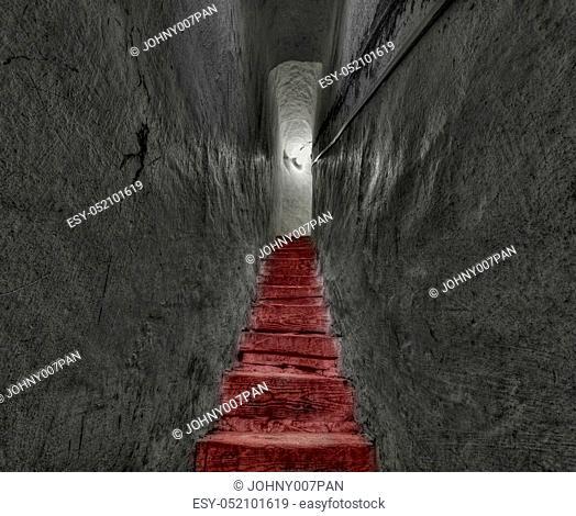 mystic narrow passage, wide view