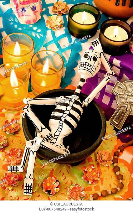 Mexican day of the dead offering (Dia de Muertos)