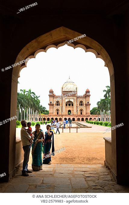 Visitors at Humayun's Tomb, Delhi, India