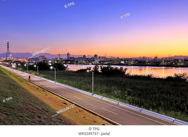 Beitou Refuse Incineration Plant;Bike Path; Taipei; Taiwan