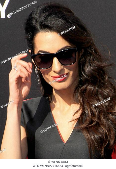 World premiere of 'Tomorrowland' held at AMC Downtown Disney 12 - Arrivals Featuring: Amal Clooney, Amal Alamuddin Where: Los Angeles, California