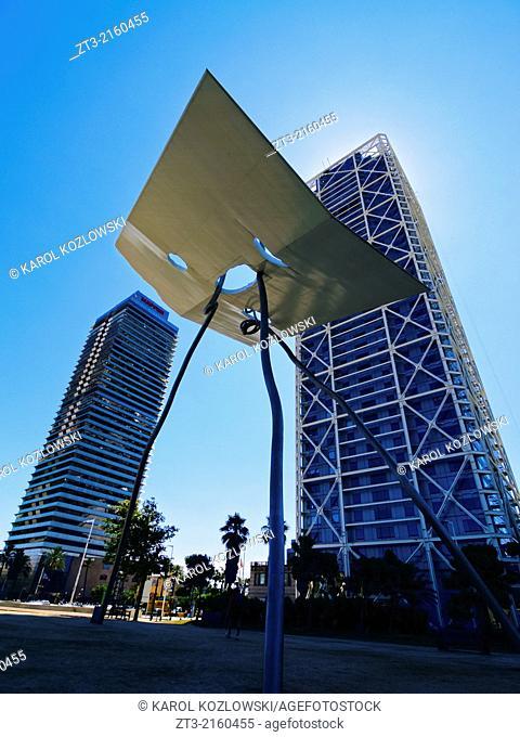 Modern Architecture on Passeig Maritim in Barcelona, Catalonia, Spain