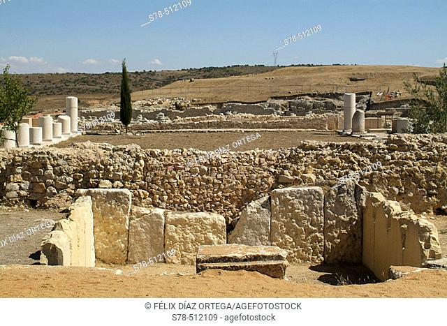 Segobriga archeological site. Roman Thermas . Cuenca province, Castilla-La Mancha. Spain