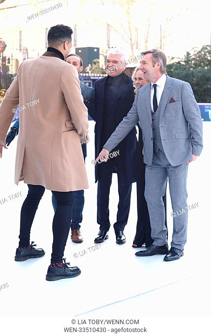 Dancing on Ice photocall held at the Natural History Museum Featuring: Ashley Banjo, Phillip Schofield, Jayne Torvill, Christopher Dean Where: London